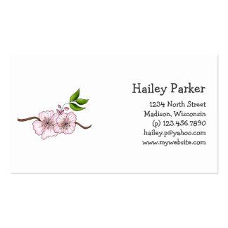 Cerises de pays · Branche de fleurs de cerisier Modèle De Carte De Visite