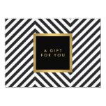 CERT fascinant de cadeau d'or de rétro motif noir Invitations