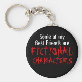 Certains de mes meilleurs amis sont les CARACTÈRES Porte-clé Rond