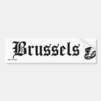 Certificat de Bruxelles de visite Autocollant Pour Voiture
