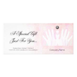 Certificat-prime curatif de massage de mains double carte personnalisée