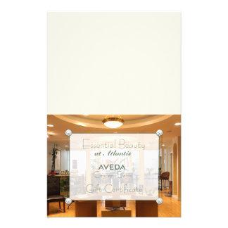 Certificat-prime de photo de salon (pliage de prospectus 14 cm x 21,6 cm