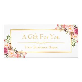 Certificat-prime floral chic de salon de beauté carte publicitaire