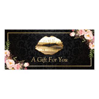 certificat-prime floral de salon de beauté de carte publicitaire
