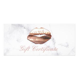 certificat-prime rose de salon de beauté de lèvres carte publicitaire