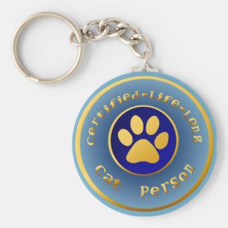 Certifier-Vie-Longue personne Keychain de chat