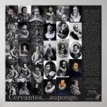 Cervantes,… Supongo - Poster-400 années Don Quijot Poster