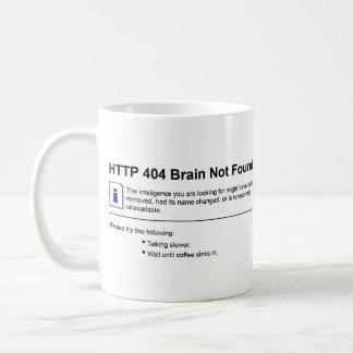 Cerveau 404 non trouvé mug