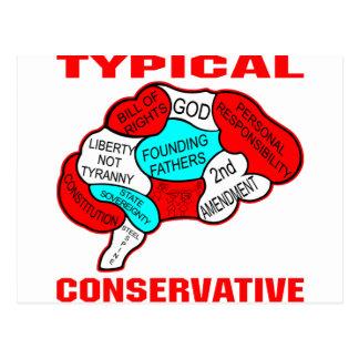 Cerveau conservateur typique cartes postales