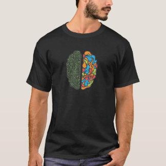 Cerveau gauche et droit t-shirt
