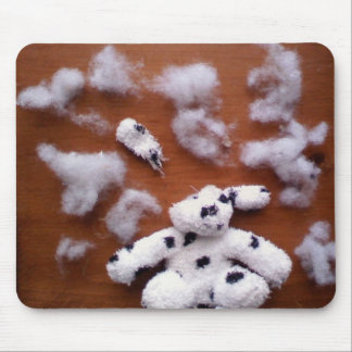 Cerveaux bourrés de chien tapis de souris