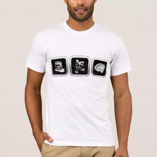 Cerveaux de zombi de déchets toxiques t-shirt