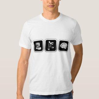 Cerveaux de zombi de déchets toxiques t-shirts