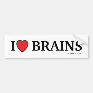 Cerveaux du coeur I Autocollant De Voiture
