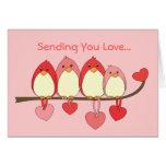 Ces oiseaux le jour de Valentines Carte De Vœux