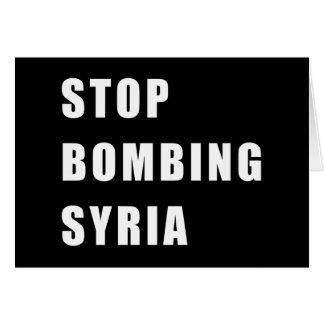 Cessez de bombarder la Syrie Carte De Vœux
