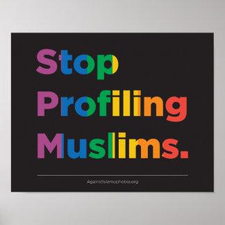 Cessez de profiler l'affiche d'arc-en-ciel de posters