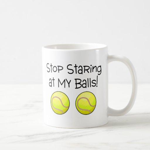 Cessez de regarder fixement mes boules (les balles tasse à café