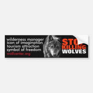 Cessez de tuer l'adhésif pour pare-chocs de loups autocollant de voiture