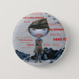Cessez d'employer la FOURRURE animale ! Badges