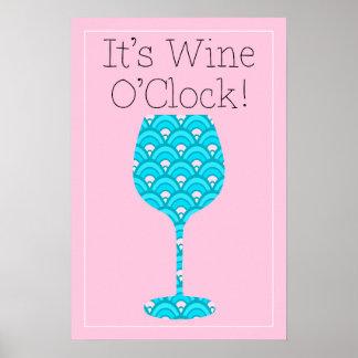 C'est affiche humoristique de vin d'impression de