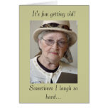 C'est amusement vieillissant ! cartes de vœux