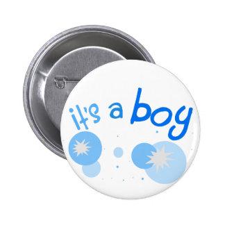 """""""C'est bouton de faire-part de bébé d'un garçon"""" Badge"""