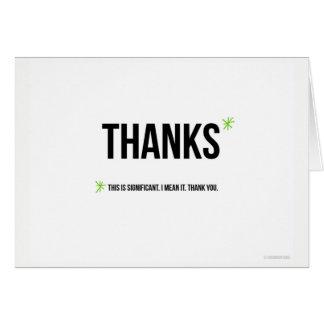 C'est carte de remerciements significatif