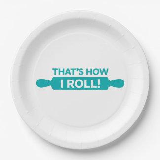 C'est comment je roule assiette en papier 22,8 cm