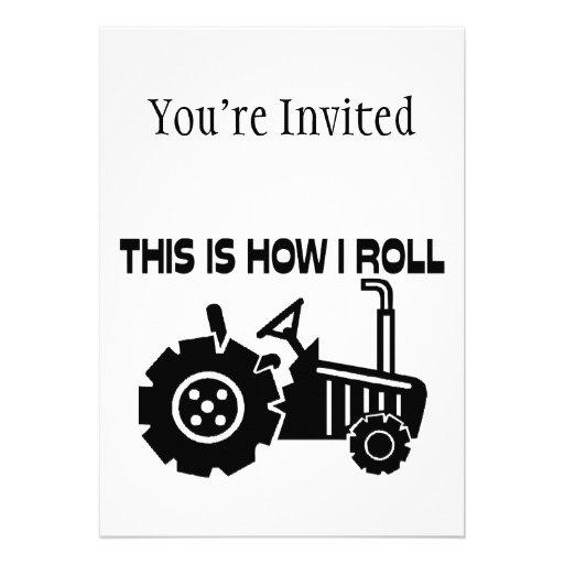C'est comment je roule le tracteur de ferme invitations personnalisables