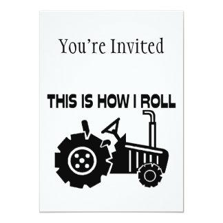C'est comment je roule le tracteur de ferme carton d'invitation  12,7 cm x 17,78 cm