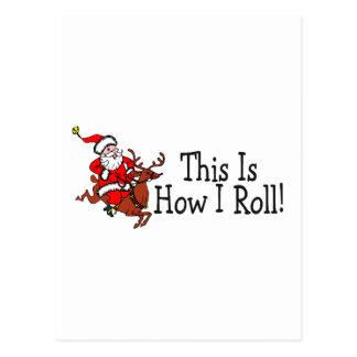 C'est comment je roule Père Noël et le renne Cartes Postales