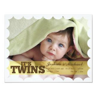 C'est des jumeaux carton d'invitation 10,79 cm x 13,97 cm