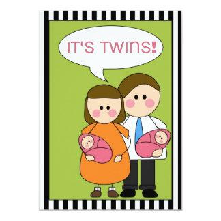 c'est des jumeaux ! faire-part (de filles)