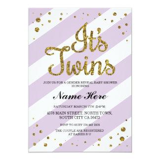 C'est des jumeaux que le genre de baby shower carton d'invitation  12,7 cm x 17,78 cm