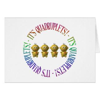 C'est des quadruplés ! cartes de vœux