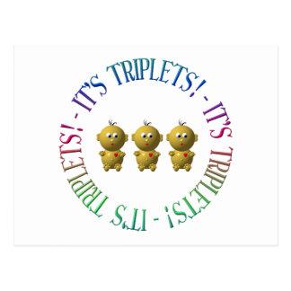 C'est des triplets ! cartes postales