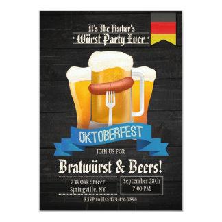 C'est invitation de temps d'Oktoberfest