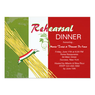 C'est invitation italienne de dîner de répétition