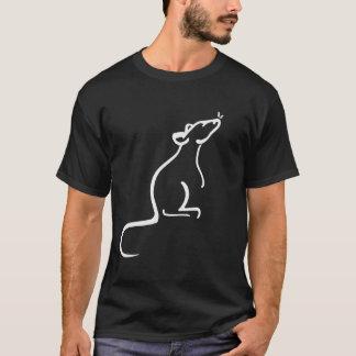 C'est la chemise de logo du monde d'un rat t-shirt