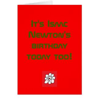 C'est l'anniversaire d'Isaac Newton aujourd'hui au Cartes De Vœux