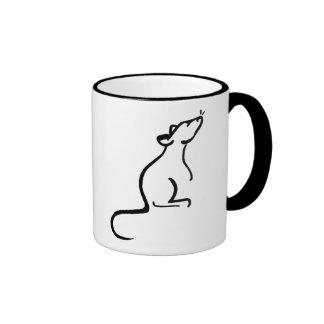 C'est le logo du monde d'un rat mug à café