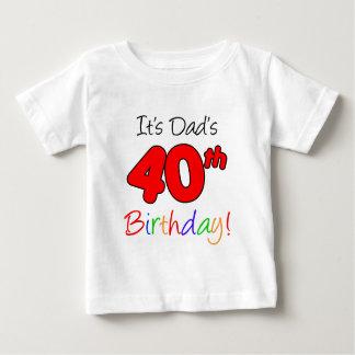 C'est le quarantième anniversaire du papa t-shirt pour bébé