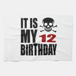 C'est mes 12 conceptions d'anniversaire linge de cuisine