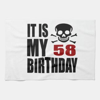 C'est mes 58 conceptions d'anniversaire linge de cuisine