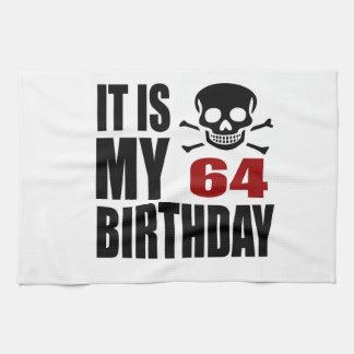 C'est mes 64 conceptions d'anniversaire linge de cuisine
