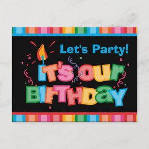 Invitations Jumeaux Joyeux anniversaires | Zazzle.fr