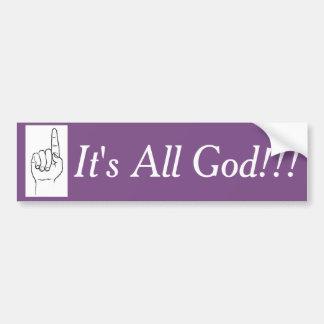 C'est tout le Dieu ! ! ! Autocollant