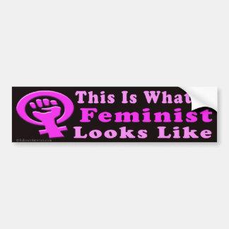 C'est un adhésif pour pare-chocs féministe autocollant pour voiture