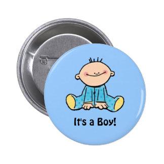C'est un bouton de bande dessinée de garçon badge